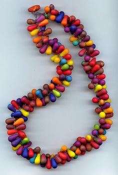 Inspiration:  Rainbow Drops   ---   Polymer Clay by MargitB