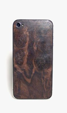 iPhone 4 back cover made from walnut wood, by Sled. for seventy nine dollaz