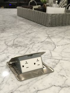 Pop up island electric outlets perfect for plug in griddle, buffet warmer, decorations