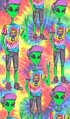 Ayy I come in peace lol Trippy Alien, Hippie Wallpaper, Trippy Wallpaper, Trippy