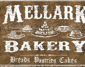 Hunger Games Inspired Mellark Bakery Bag Treat Topper Labels