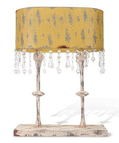 Look at this Yellow Topiary Lamp on #zulily today!