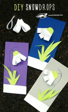 DIY snowdrops – craft SPRING Best Picture For Spring Crafts For Kids to sell For Your Taste You are looking for something,. Spring Crafts For Kids, Summer Crafts, Diy For Kids, Easter Crafts, Preschool Activities, Children Activities, Toddler Crafts, Kids Crafts, Tarjetas Diy
