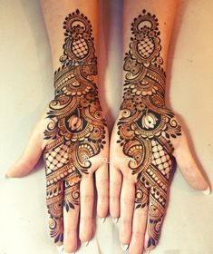 Mehndi Designs For hands - we made a detailed guide of mehndi designs for hands that can help you decide your upcoming mehendi look! Mehandhi Designs, Henna Art Designs, Mehndi Designs For Beginners, Mehndi Designs For Girls, Mehndi Design Images, Mehndi Designs For Fingers, Tattoo Designs, Mehndi Designs Front Hand, Latest Arabic Mehndi Designs