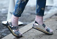 Metallic Sandals.
