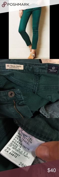 AG Stevie Straight Leg Jeans AG Adriano Goldschmied The Stevie straight leg jeans in Hunter Green. Size 26R AG Adriano Goldschmied Jeans Straight Leg