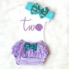 Mermaid Birthday Outfit mermaid birthday by KennedyClairesCloset