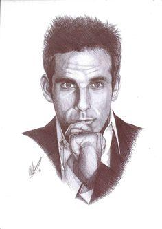 Ben Stiller Biro Portrait by Craig-Stannard on deviantART