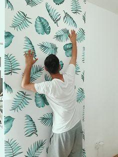 DIY by @Irina P.  http://www.irinahp.com/blog/2017/6/changes-at-home-part-1  #homedecor #wallmural #design #bedroom #wallideas #Pixers #amazing