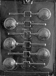 Golf Ball Lollipop Chocolate Mold - S071 - Includes Melting & Chocolate Molding Instructions