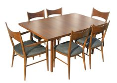Mid Century Modern Dining Table and chairs by Paul McCobb Midcentury Modern Dining Table, Mid Century Modern Furniture, Mid Century Dining Set, Paul Mccobb, Modern Architecture Design, Selling Furniture, Dining Table Chairs, Dining Room, Mid-century Modern