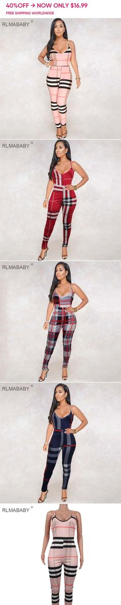 Buy Directly from China Suppliers Autumn Fashion 2018 Women, Color Print, Jumpsuits, Overalls, Spaghetti, Backless, Rompers, Wonder Woman, Plaid