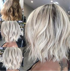 50 hair color trends in 2019 Before Platinum Blonde Hair Color Hair Trends 50 Hair, Curls Hair, Hair Color For Women, Curled Hairstyles, Trendy Hairstyles, Short Blond Hairstyles, Fall Hairstyles, Halloween Hairstyles, Hairstyle Short
