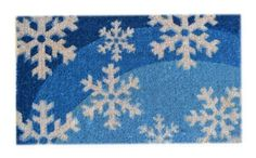 Imports Décor Decorated Coir Doormat, Blue Snowflakes, 18-Inches by 30-Inches by Imports Décor. $35.99. Painted with weather resistant colors. Handwoven with 100-percent coir fibre. Durable, waterproof and superior scubbing power. Measures 18-inch by 30-inch. Ideal for moderate to heavy-use traffic areas. Add personality to your front door with this painted coir doormat designed with a fresh winter scene of falling snowflakes on the front. Our coir doormats are handwoven ...