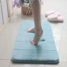 Extra Large Memory Foam Anti-Skid Bath Mat,Super Soft Bathroom ...