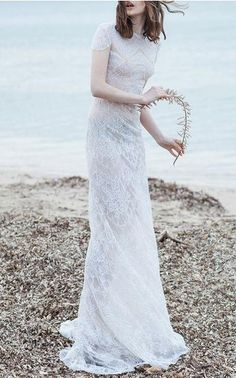 Costarellos Bridal Spring Summer 2016 Look 2 on Moda Operandi