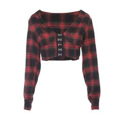 Casual Fall Outfits That Will Make You Look Cool – Fashion, Home decorating Casual Outfits For Teens, Crop Top Outfits, Plaid Outfits, Red And Black Plaid, Long Sleeve Crop Top, Look Cool, Types Of Sleeves, Casual Shirts, Vestidos