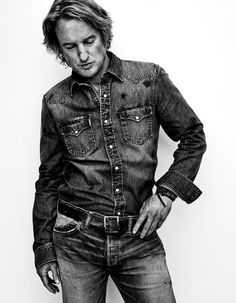 Owen Wilson Does Double Denim for Interview Cover Shoot