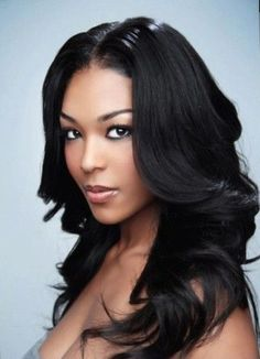Long Weave Hairstyle More - June 15 2019 at Black Hairstyles With Weave, Easy Hairstyles For Long Hair, Black Women Hairstyles, Hairstyle Ideas, Wave Hairstyle, 90s Hairstyles, African Hairstyles, Wedding Hairstyles, Bridesmaid Hairstyles