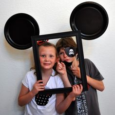 Mickey Mouse Photo Booth - for the young ones (paint bottom red with white buttons