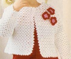 Puntada Fantasía Para Suéter de Niña a crochet