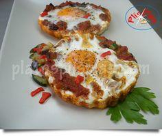 Tartaletas de pisto y huevo - Platos Plis Plas