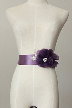 Lemandy Handmade Organza Flower Sashes for Wedding Dresses (purple) Lemandy http://www.amazon.co.uk/dp/B01517WKBI/ref=cm_sw_r_pi_dp_Orq-vb1ESHNJR