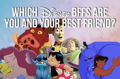 Which Disney Duo Are You And Your Best Friend. I got Marlin and Dory