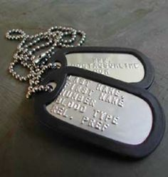 Complete 6 piece military dog tag set including 2 dog tags, 2 chains, and 2 silencers. Satifaction Guaranteed! Over 1,000,000 sold!