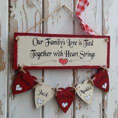 Wooden Family Tree plaque keepsake