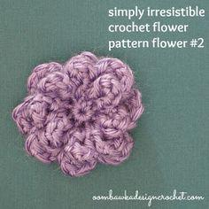 Oombawka Design *Crochet*: Simply Irresistible Crochet Flower - Free Crochet Pattern