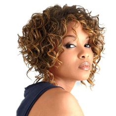 Afro Short Curly Kinky Wigs for Black Women American Brown Hair Short Curly Wigs, Short Hair Cuts, Curly Hair Styles, Natural Hair Styles, Wig Styles, Wigs For Black Women, Blonde Color, Synthetic Wigs, Wig Hairstyles