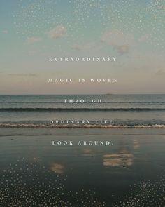 Beach quote print, extraordinary magic poetry poster, beach photography, ocean print