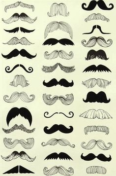 Think of all the cute mustache onesie you could make using these