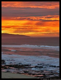 Tergniet sunset, South Africa.