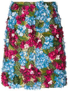 a226dba82a4 Dolce   Gabbana Hydrangea Embroidered Skirt - Farfetch