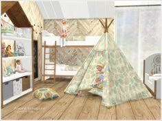 Kids Bedroom Sims 4 CC Teepee