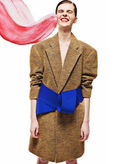 Yii's Kiddyland (Style Bubble) Interview, Blue Ties, Ss 15, Front Row, Sweater Cardigan, Peplum Dress, Women Wear, Feminine, Fashion Design
