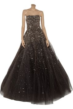 WOW! Marchesa Sequined tulle gown