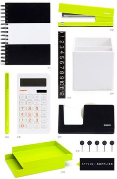 Being a self-proclaimed office supplies junkie, I took notice when I saw a feature on Poppin last year in Lucky magazine. Office Org, Office Workspace, Office Decor, Office Ideas, Back To School Supplies, Office And School Supplies, Desk Stationery, Chic Desk, Stylish Office