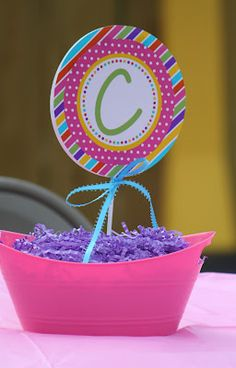 Sweet Shoppe Birthday Party Centerpiece...front!