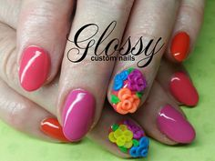 Most of them are Gel and Acrylic artificial nails but you might catch a few natural ones. Some Designs are hand painted and others are. Artificial Nails, Nail Polish, Hand Painted, Gallery, Flowers, Beauty, Nail Polishes, Manicures, Cosmetology