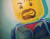 You as a Lego Guy: Custom Portrait of you or your loved one(s) 11 x 14. $79.00, via Etsy.