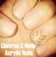 Chevron Nails! So cute!
