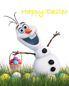 Olaf from Disney's Frozen - Happy Easter! Disney Olaf, Frozen Disney, Frozen Movie, Olaf Frozen, Disney Magic, Disney Pixar, Walt Disney, Frozen 2013, Disney Princes