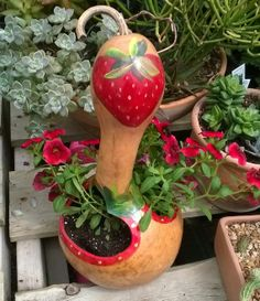 Hey, I found this really awesome Etsy listing at https://www.etsy.com/listing/187914904/made-to-order-gourd-planter-or-bird