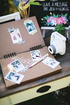 Instax Camera for wedding guest book More