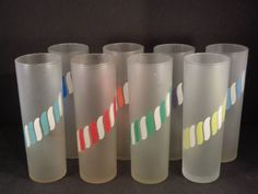 Barware Collection - LIBBEY - CANDY STRIPE - TOM COLLINS GLASSES