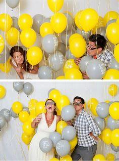 j'adore l'idée des ballons pour des photos fun
