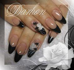 black french by Darhon - Nail Art Gallery nailartgallery.nailsmag.com by Nails Magazine